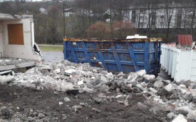 Chantier démolition à Rupt-sur-Moselle